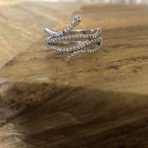 Pandora Sterling Silver Serpent Ring